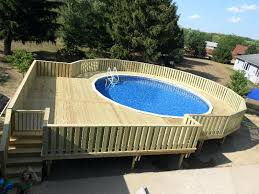 awesome aboveground pools 4 building deck around above ground oval