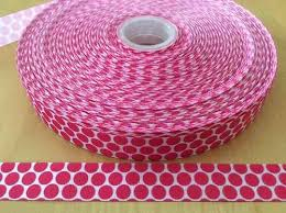 pink polka dot ribbon black and pink polka dot grosgrain ribbon 7 8