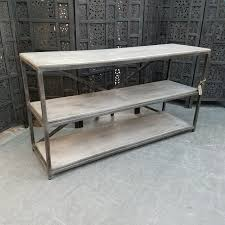 Wood Console Table Iron And Wood Console Table Nadeau Charlotte
