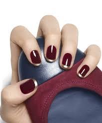 gilt tip french manicure nail art design essie nail polish