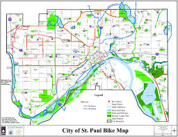Mn State Park Map by St Paul Minnesota Bike Map Maplets