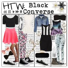 how to wear black converse polyvore