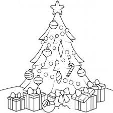 coloring page of christmas tree with presents coloring pages christmas tree with presents copy christmas tree with