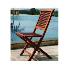 teck grade a chaise de jardin en teck huilé 90cm macao pier import