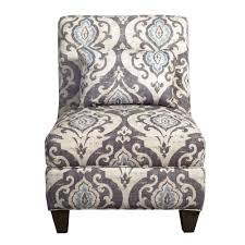 Large Accent Chair Homepop Blue Slate Large Accent Chair Homepop