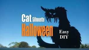 diy easy cat silhouette halloween decorations youtube