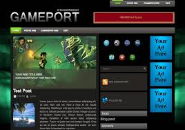 game port blogger template 2014 free download