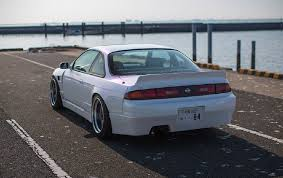 nissan silvia nissan silvia 240sx s14 94 99 ducktail wing wideworks scale