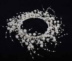 ivory pearl beaded candle ring wreath candles and accessories