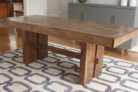 build a rustic dining room table west elm inspired solid wood dining table for 150 studio 36