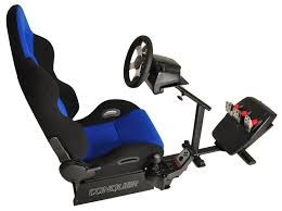 Racing Simulator Chair Conquer Racing Simulator Cockpit Driving Gaming Reclinable Seat W