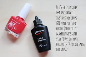 nailing it but not really revitanail instant dry drops