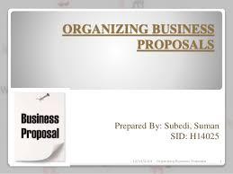 organizing business proposals