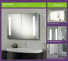 mesmerizing bathroom cabinet with lights lucent round stainless