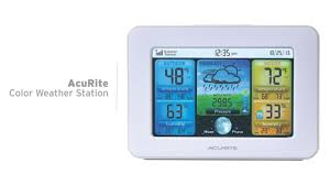 acurite color weather station with forecast temperature