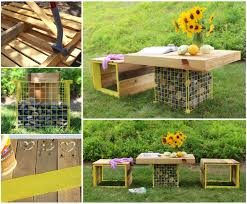 Building Outdoor Wooden Tables by 50 Wonderful Pallet Furniture Ideas And Tutorials