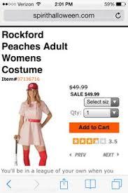 Rockford Peach Halloween Costume Jimmy Duggan Rockford Peaches Costumes