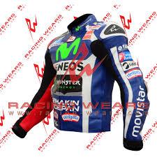 leather motorcycle racing jacket racing wears jorge lorenzo yamaha movistar motogp 2016 motorbike