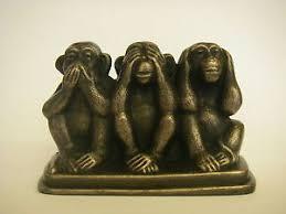 three wise monkeys ebay