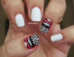 pink black and white nails with anchor 2015 best nails design ideas