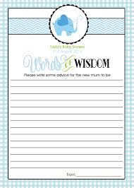 to be advice cards diy printed personalised custom baby shower to be advice card