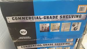 Commercial Wire Shelving by Costco Commercial Grade 6 Tier Nsf Shelving 69 85 For My