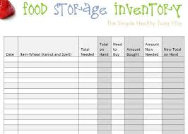 Simple Inventory Sheet Template by Food Inventory Template Bikeboulevardstucson Com