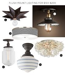 Bronze Ceiling Light The 30 Best Flush Mount Lighting Fixtures Making It Lovely