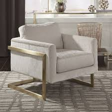 Ivory Accent Chair Modern Ivory Accent Chair W Floating Back Accent Chairs