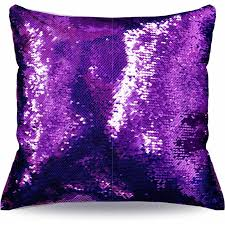 Purple Sofa Pillows by Mainstays Reversible Sequin Decorative Throw Pillow 17