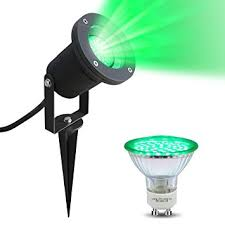 led garden spike green light gu10 outdoor ip65 black spike with 4w