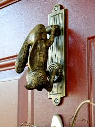 bunny door knocker door latches catches knobs u0026 knockers