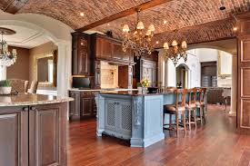 philadelphia vaulted ceiling lighting kitchen mediterranean with