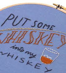 whiskey embroidered hoop art home decor u0026 lighting kitsch and