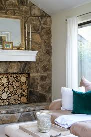 livelovediy faux stacked log fireplace tutorial