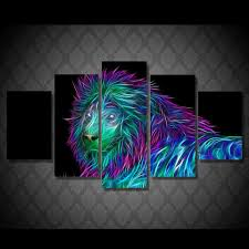 posters for home decor abstract colorful lion painting pictures for home decoration high