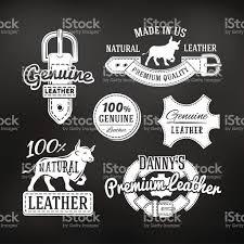 vintage gulf logo set of leather quality goods vector designs vintage belt logo