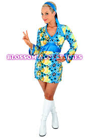 e50 60s 70s retro hippie go go disco fancy dress halloween