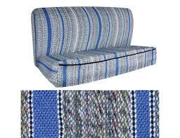 cover saddle blanket bench medium blue
