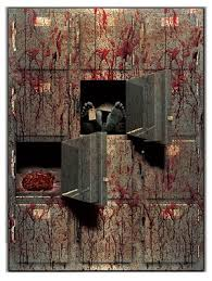 jumbo morgue gore decor decoration halloween scene setter decorations