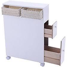 Bathroom Storage Cabinets Floor Amazon Com Proman Products Bathroom Floor Cabinet Wood In Pure