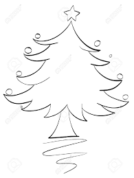 illustration of an xmas tree outline royalty free cliparts