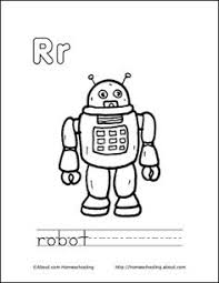 robot coloring printable science worksheets