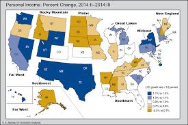 us bureau economic analysis bea release state personal income third quarter 2014