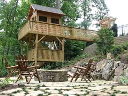 Backyard Ideas For Sloping Yards Sloped Woodland Patios Traditional Landscape Atlanta By