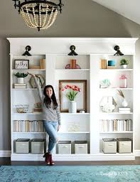 Bookshelf Makeover Ideas Bookcase Builtins Trimcomplete Labeled Wm Square Floating