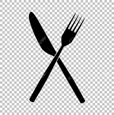 fork and knife sign flat style icon on transparent background