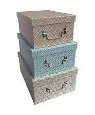 Cardboard JVL Home Storage Boxes with Handles