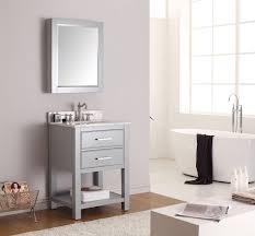 Gray Vanity Bathroom Bathroom Grey 24 Bathroom Vanity With Mirror And Wall Sconces