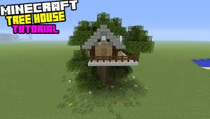 minecraft tutorial how to make a small tree house